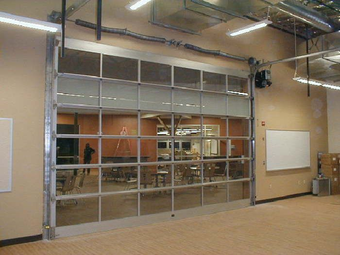Vista Garage Doors Store Front Combos Gallery Glass Garage Door With Images Glass Garage Door Store Fronts Garage Door Store