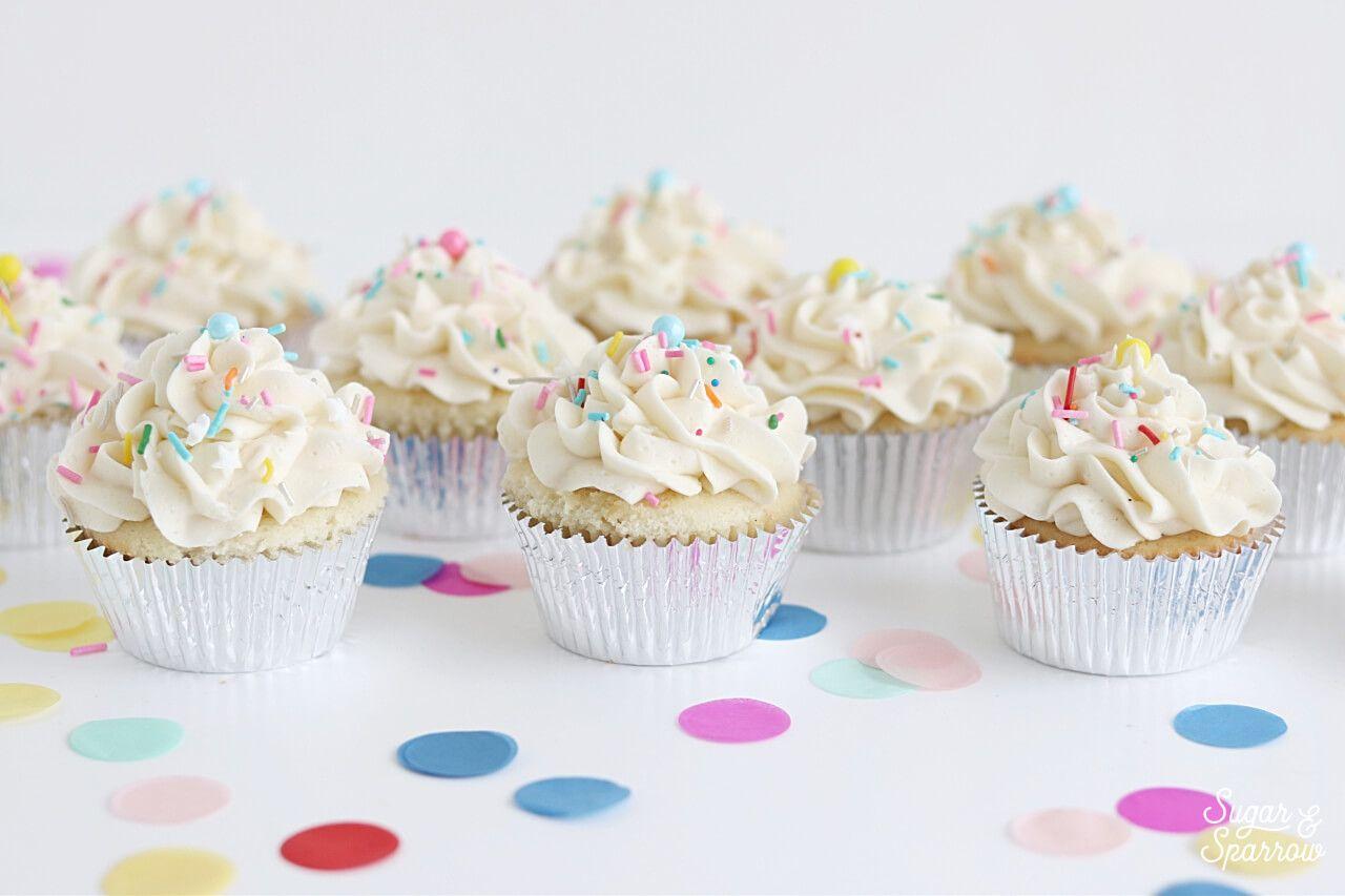 Vanilla Cupcakes With Vanilla Buttercream Recipe Cupcake Recipes