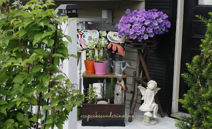 My Front Porch Herb Garden Elements Of Summer Herb Garden