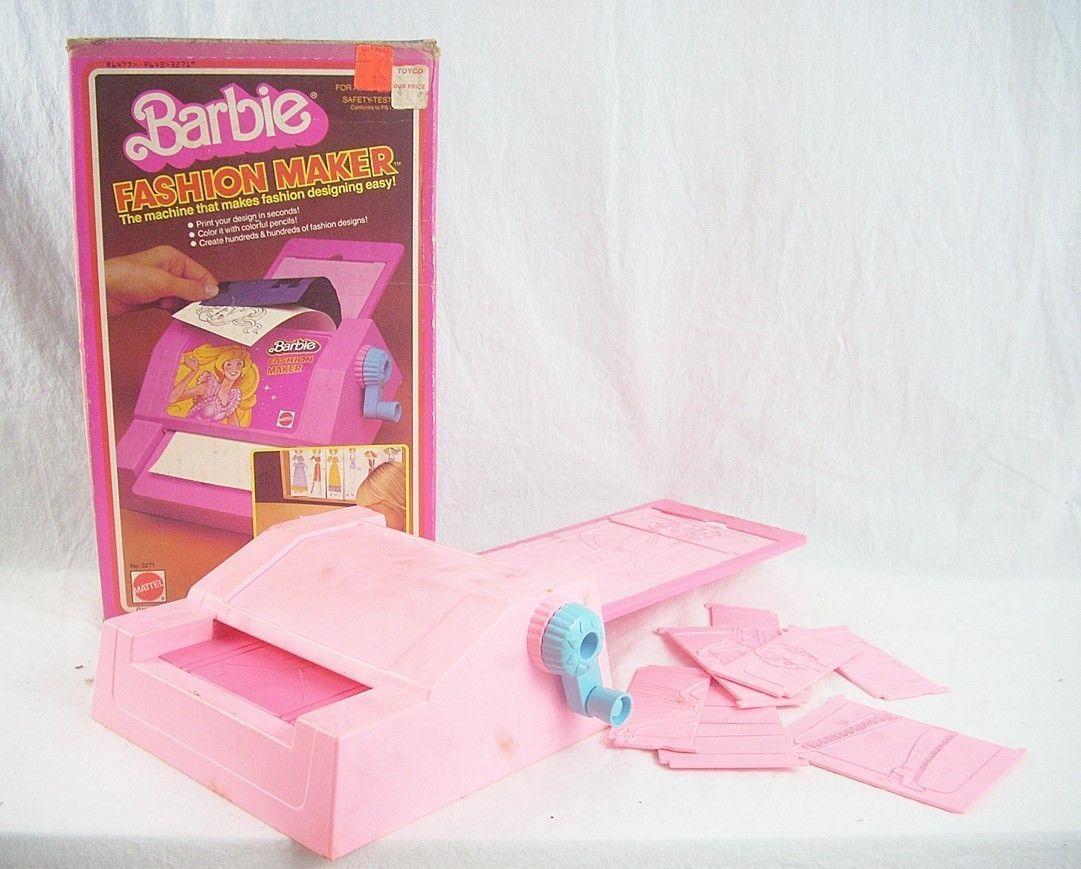 Vintage 1980 Barbie Fashion Maker Dress Plate Set  sc 1 st  Pinterest & Vintage 1980 Barbie Fashion Maker Dress Plate Set | Childhood ...