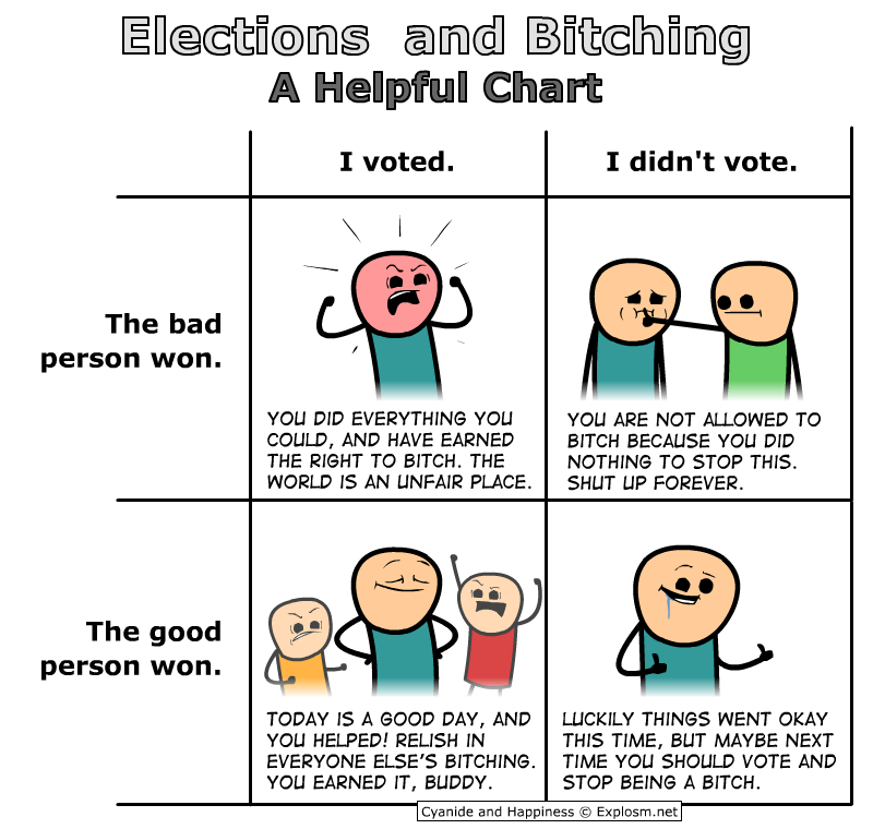 Elections and Bitching - A Helpful Chart\
