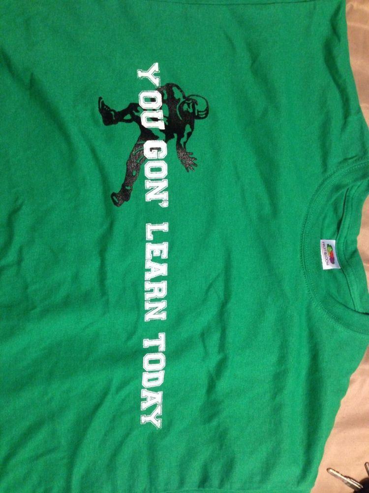 Marshall University Football t-shirt Kelly Green L -XL #Marshall #GraphicTee