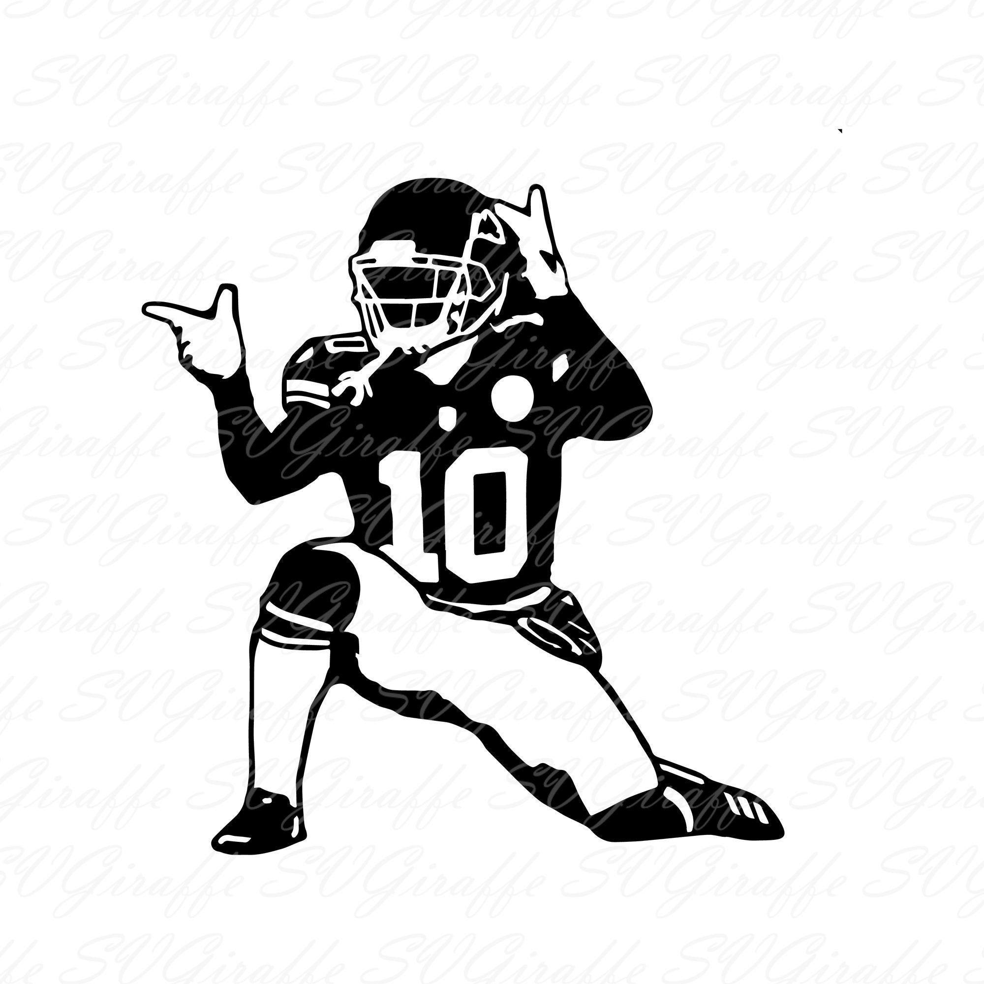 Tyreek Hill Svg Dxf Png Pdf Jpg Eps Files Tyreek Vector File Etsy In 2020 Svg Football Design Cricut