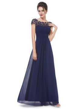 Shop Navy Elegant Rhinestone Lace Paneled Open Back Ruched Front Maxi Dress from choies.com .Free shipping Worldwide.$91.99