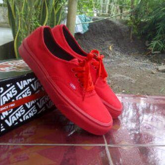 c1e6129e97 Vans authentic Red Mono