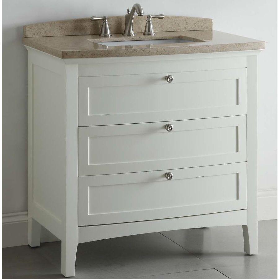 Shop Allen Roth Windleton 36 In X 22 In White Single Sink