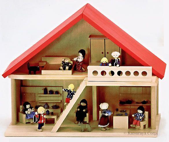ニキティキ ドールハウス バウアー社 ドールハウス 赤い屋根の人形の家