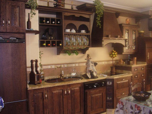 Muebles de cocina de madera rustica inspiraci n de - Muebles de madera rusticos para cocina ...