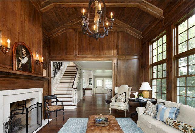 Good Family Room. Wood Paneling Living Room. Traditional Living Room. The Wood  Paneling On