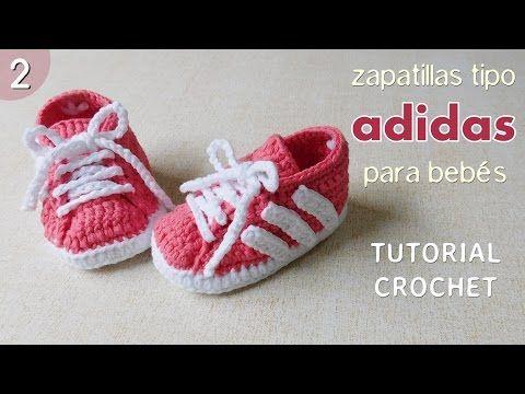 Zapatillas Adidas a crochet para bebé (Parte 2 de 2