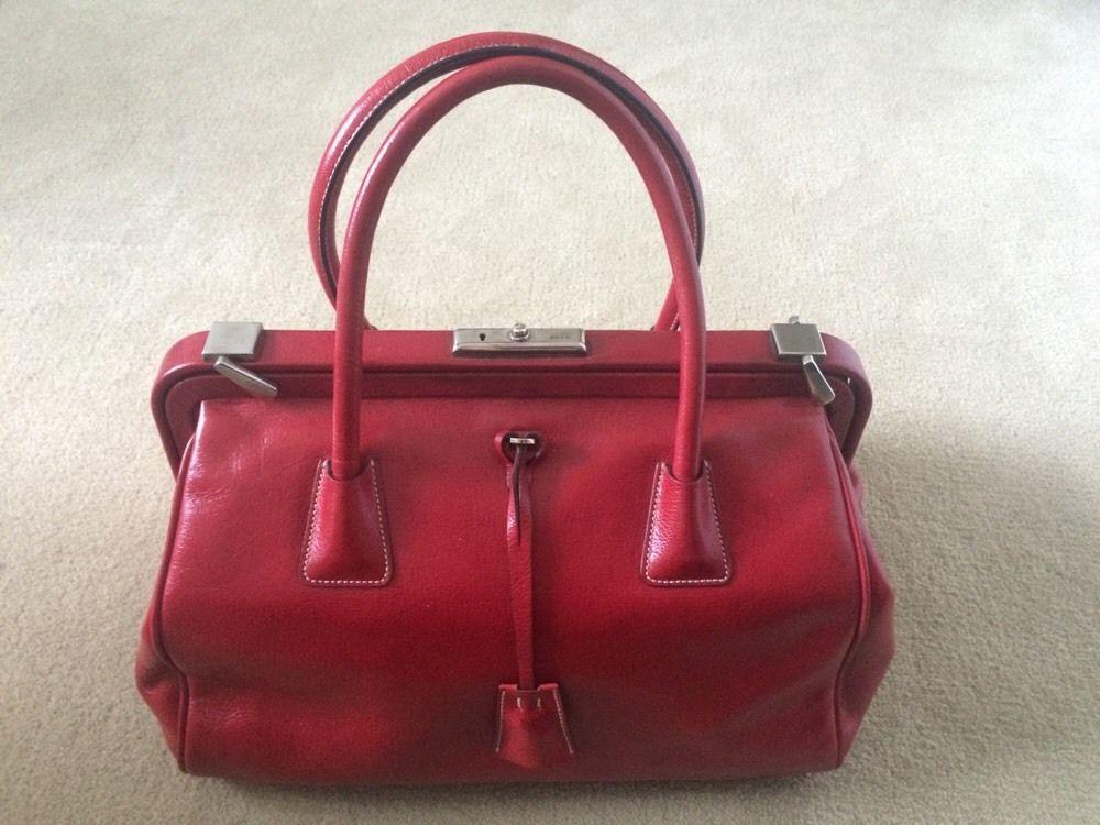 Authentic Vintage Prada Doctor Bag - Red #PRADA #Doctor