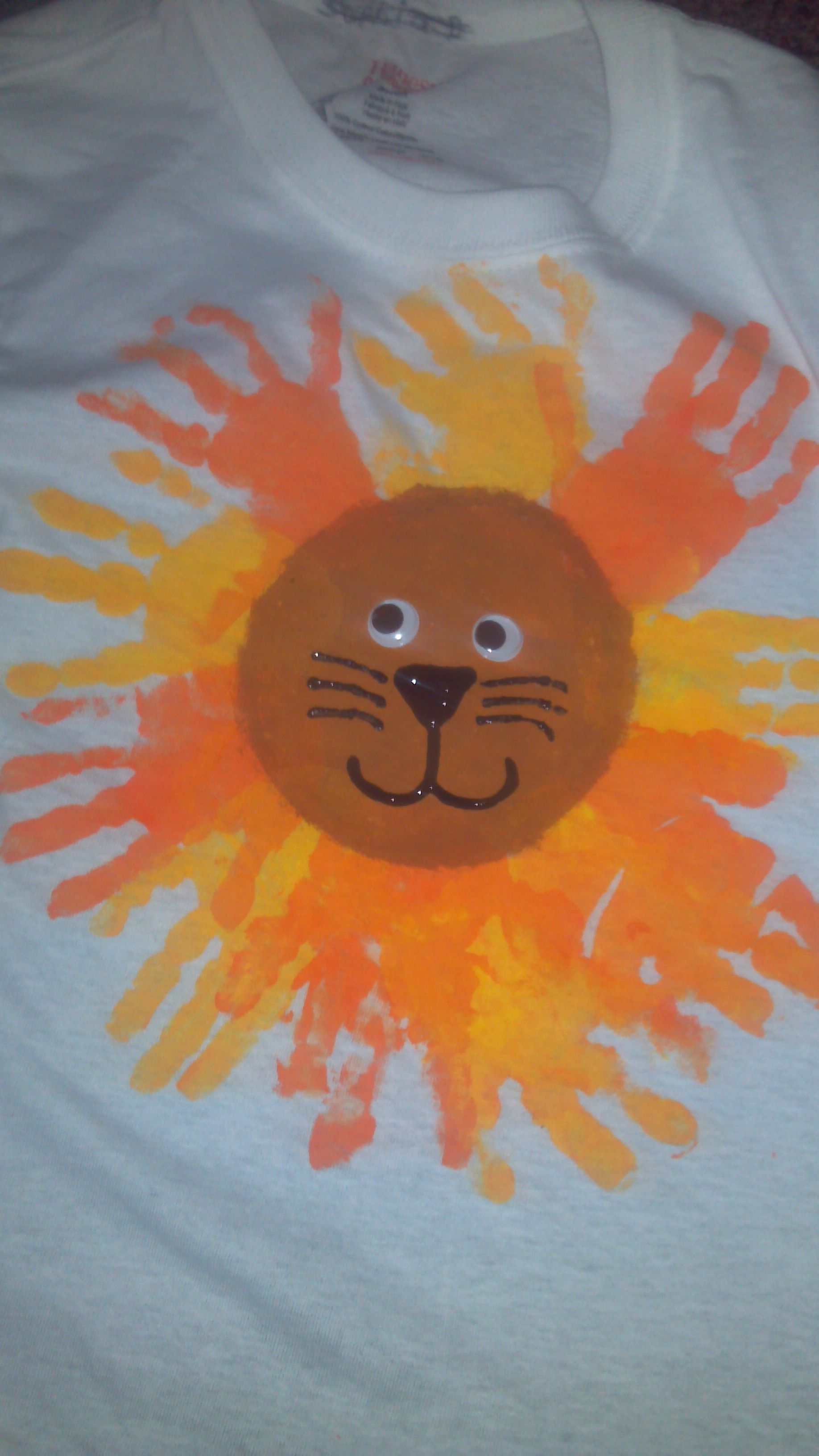 Handprint Lions We Made In Our Class For End Of Year