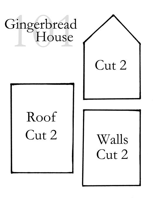 This is a graphic of Gingerbread House Templates Printable with mini