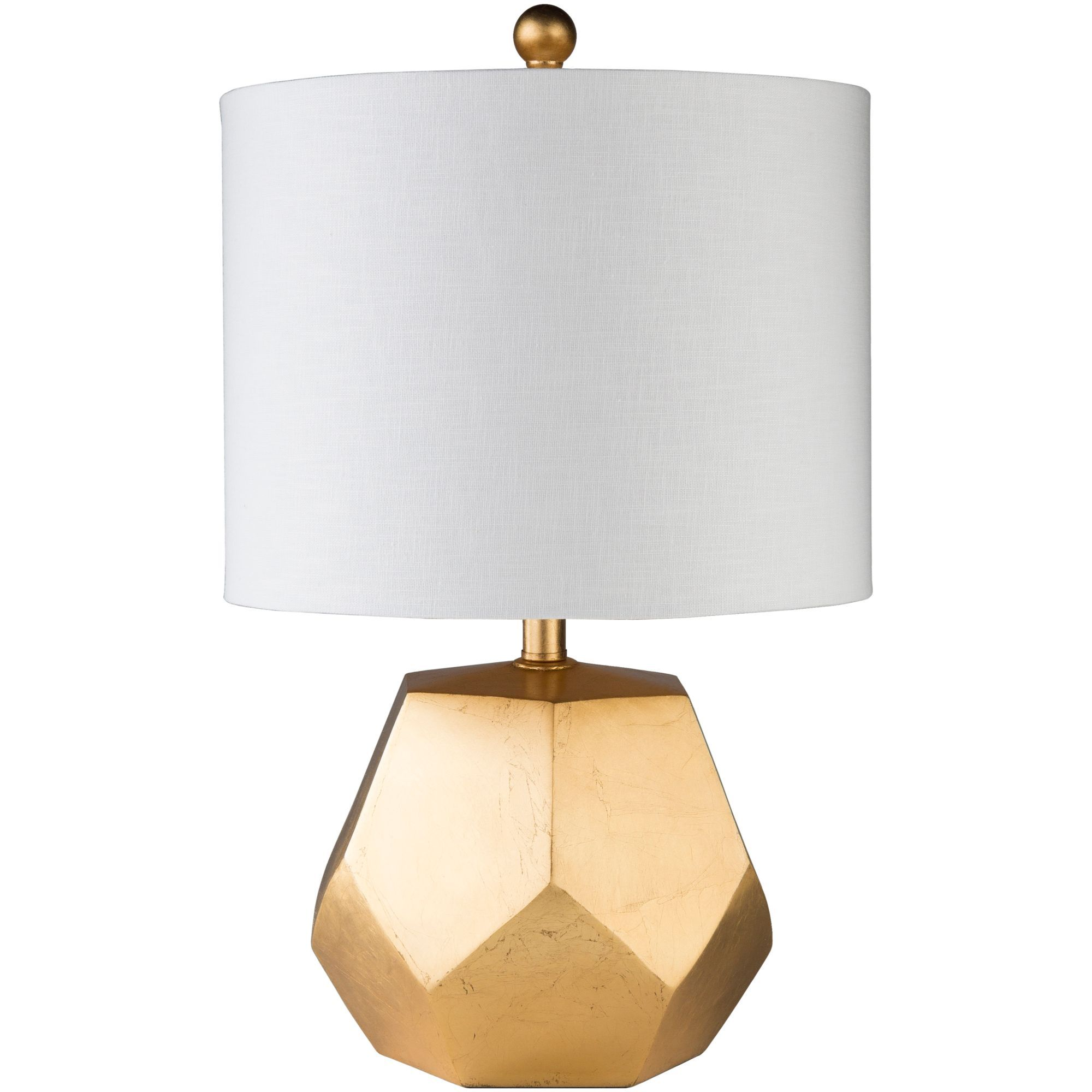 21 5 Glossy White And Gold Colored Table Lamp With Modified Drum Shade Gold Table Lamp Gold Bedside Lamps Table Lamp