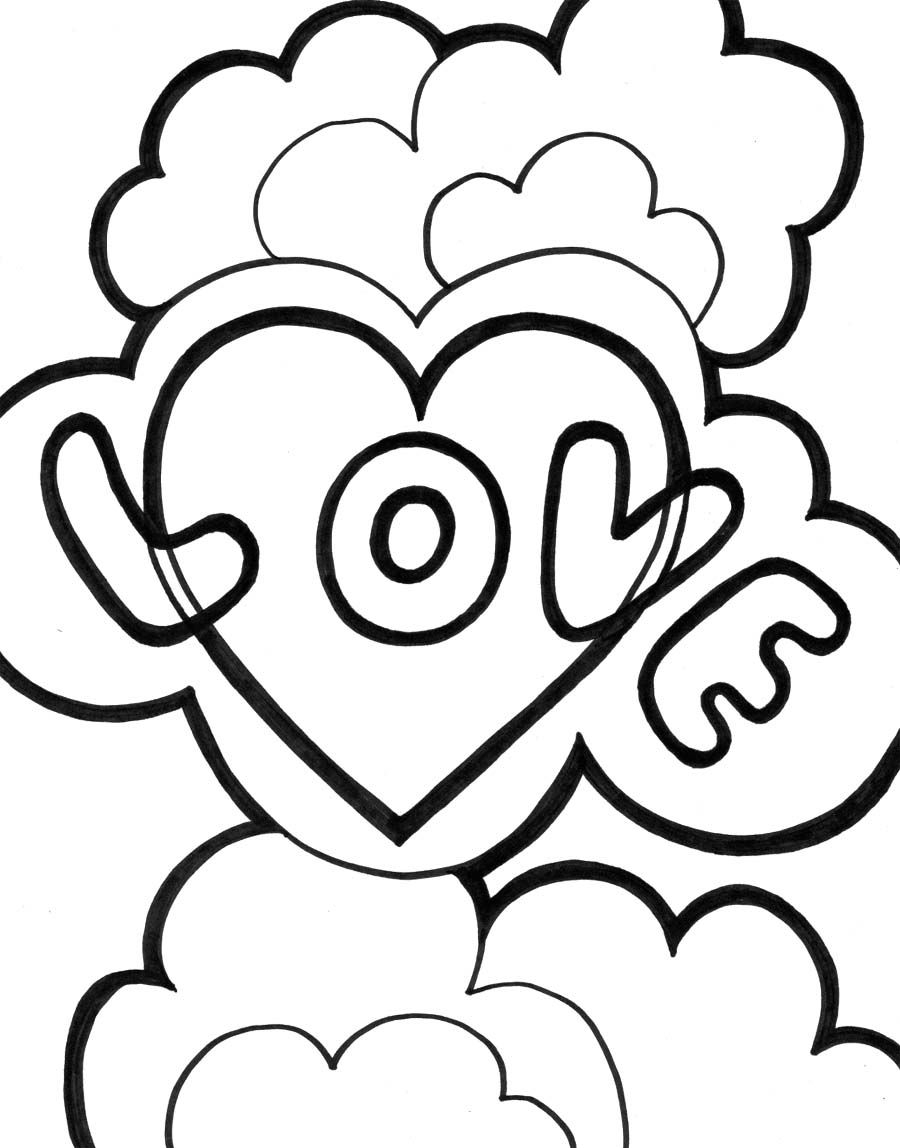 Love Coloring Pages To Print Love Coloring Pages Fruit Of The