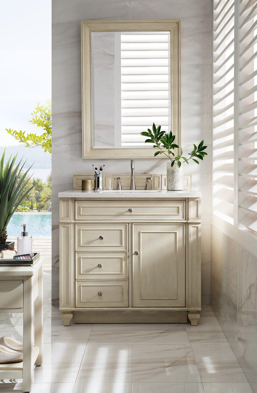 """36"""" Bristol Vintage Vanilla Single Bathroom Vanity In 2019"""