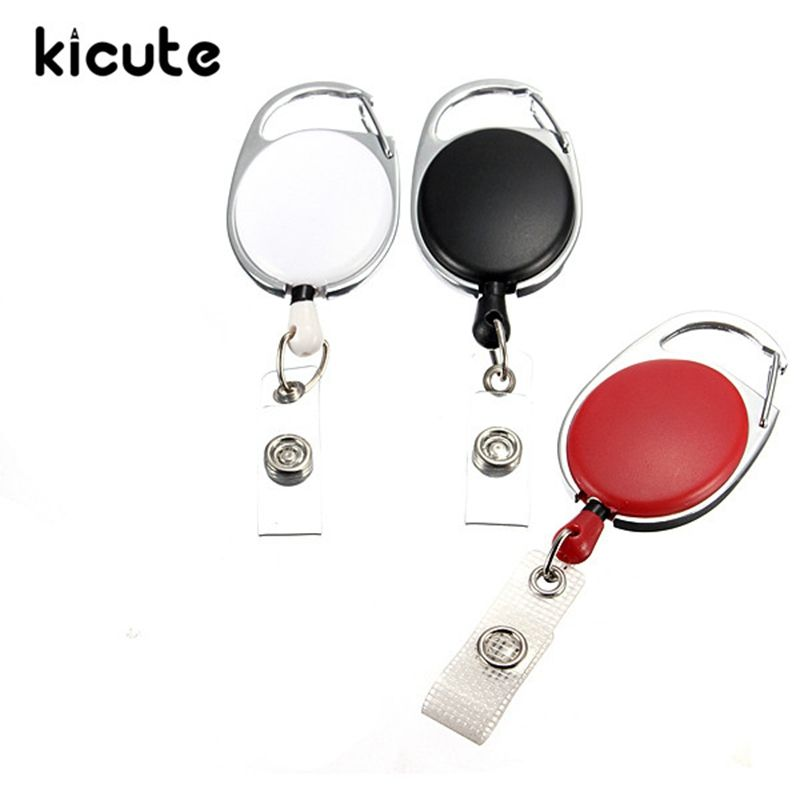 HOT Name Tag Key Card Holder Belt Clip Retractable Reel Recoil ID Badge Lanyard