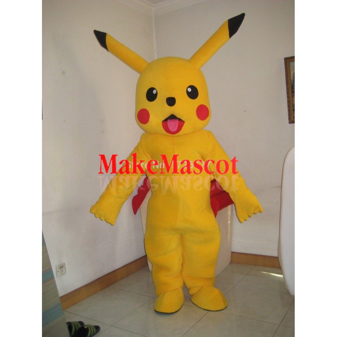 Mascot Pikachu Cartoon Mascot Costume Custom Fancy Costume Anime Cosplay Character Mascotte Theme Fancy Dress Carnival Costume Cartoon Mascot Costumes Mascot Mascot Costumes