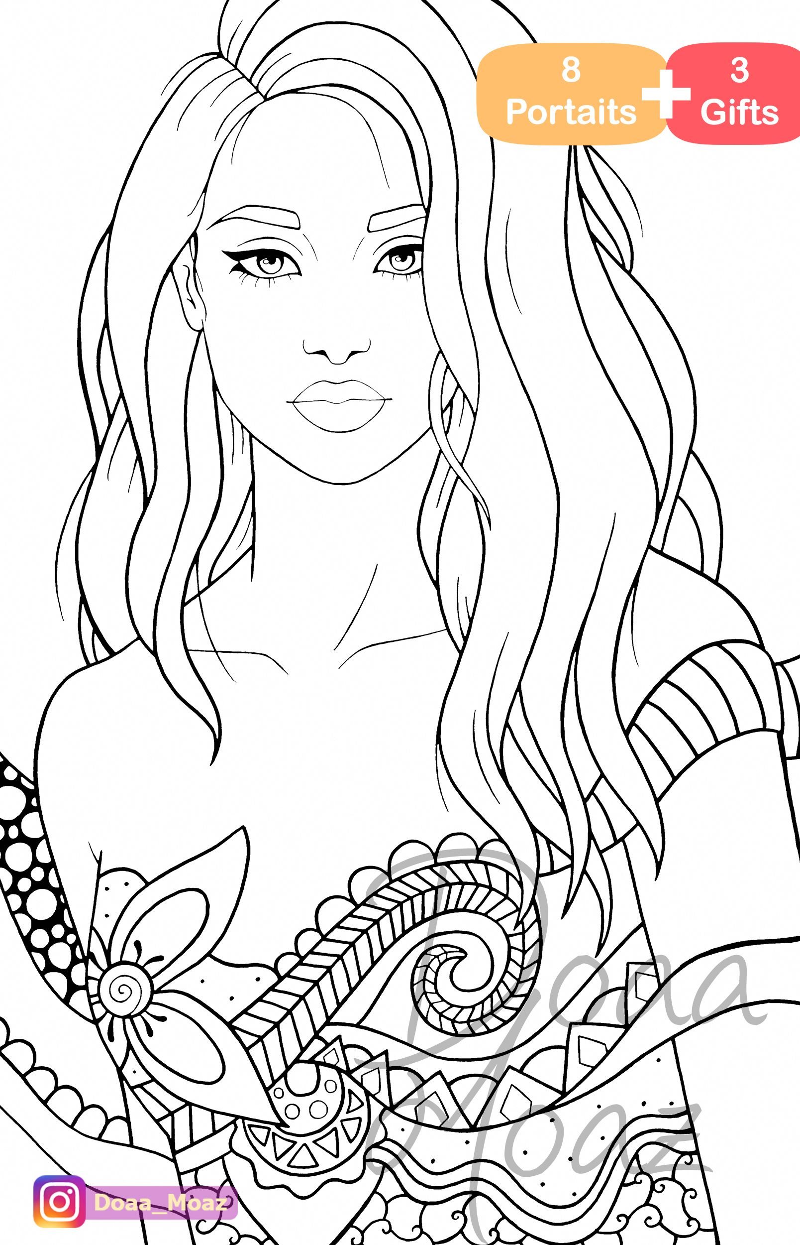 Large Print Easy Face Coloring Book Color By Number Adult Coloring Book of Beautiful Faces