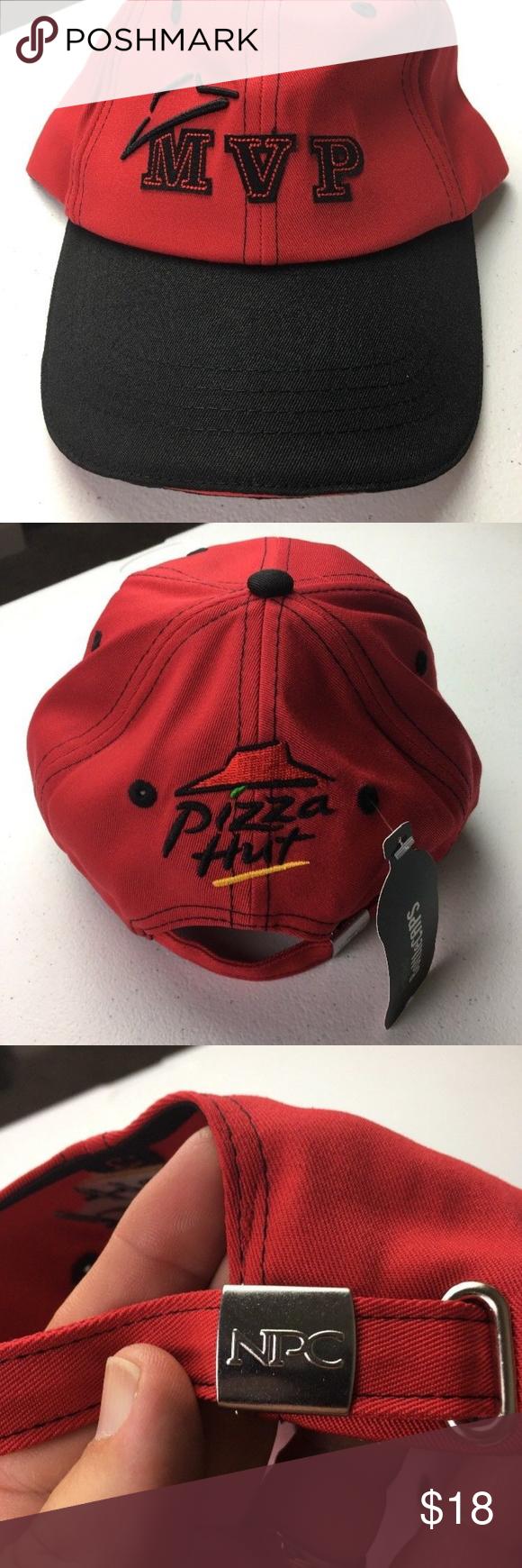 New Pizza Hut Uniform Black Red Baseball Cap Black And Red Baseball Cap Reds Baseball