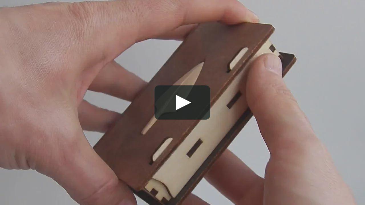 Business card holder laser cut plywood with incrustation Arrowhead ...