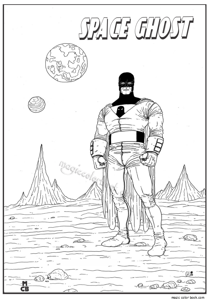 Space Ghost Archives Magic Color Book Space Ghost Coloring Books Disney Coloring Pages