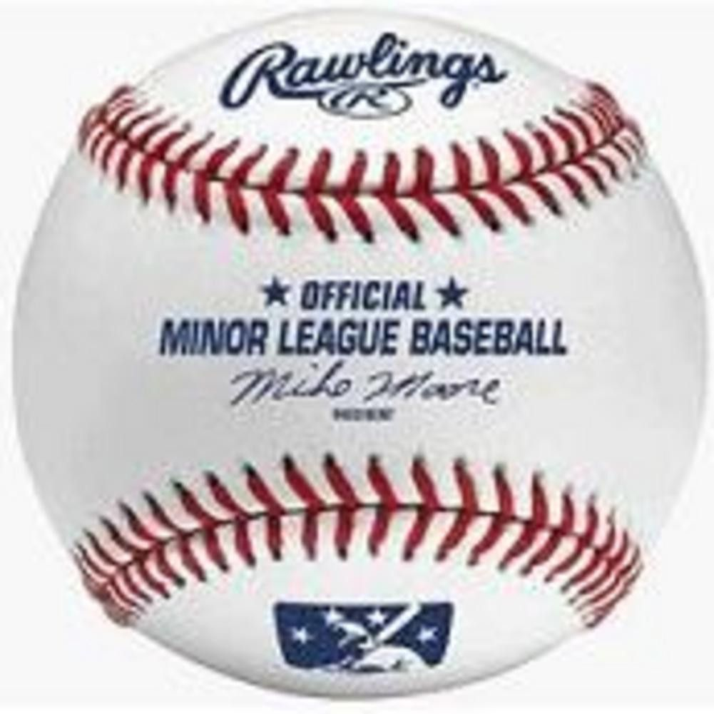Rawlings Official Minor League Baseball With Images Rawlings Baseball Little League Baseball Baseball First