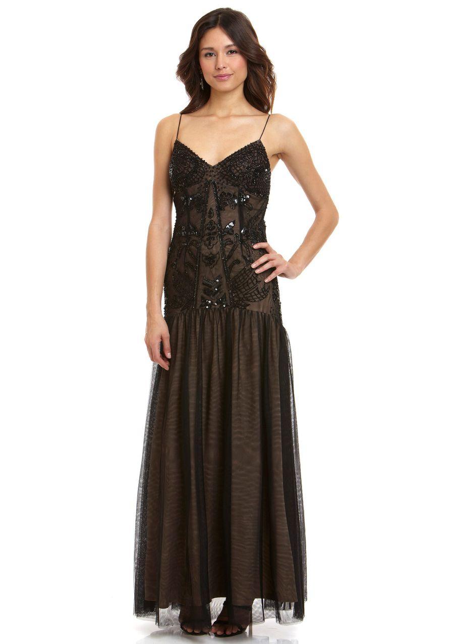 Ideeli aidan mattox vintage drop waist embellished gown my style