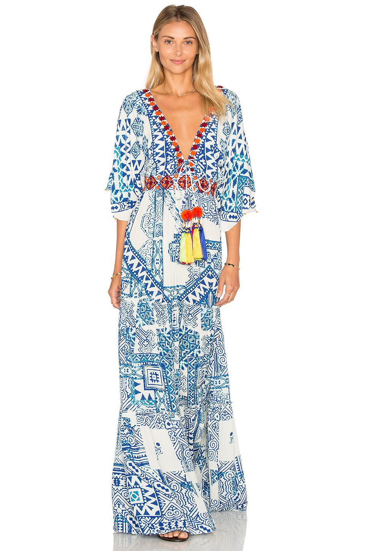 Hemant and nandita maxi dress in blue fashion pinterest