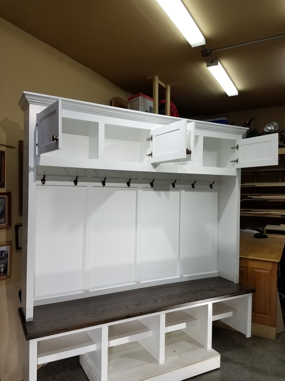 Mudroom Lockers Bench Storage Furniture Cubbies Hall Tree 72 Wide Coat Rack