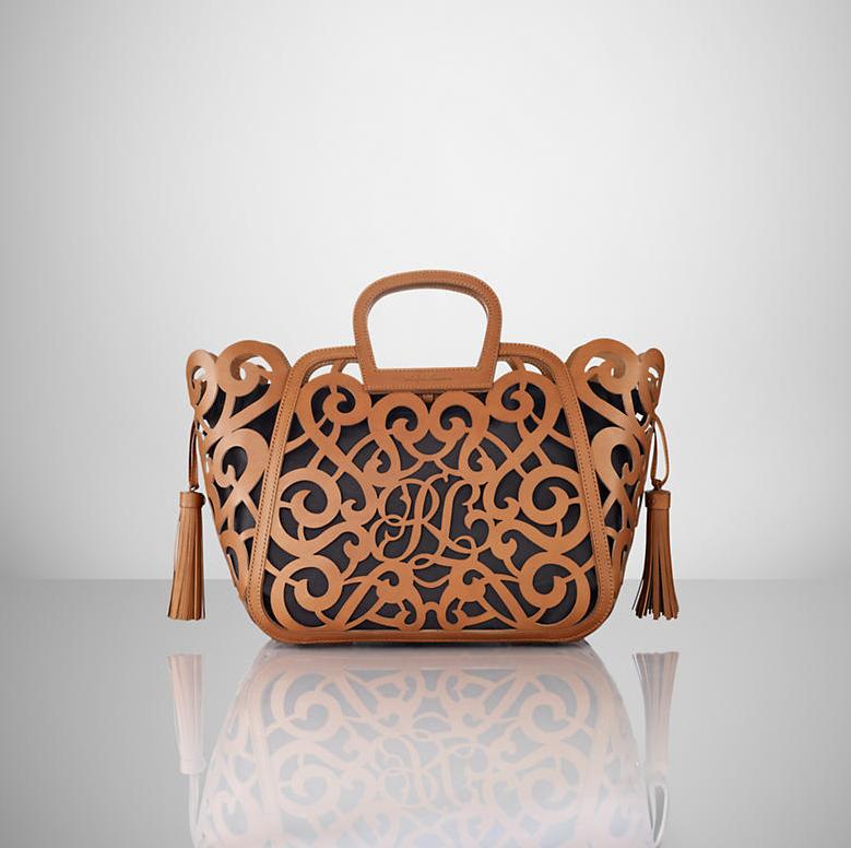 a4bd671ad21a Bag Love  SS2013 Ralph Lauren Red Swirl   Tassel Handbag - SNOB AFFAIR