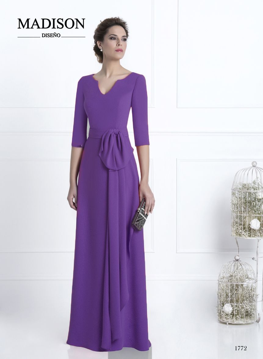 Vestido largo de fiesta morado #Madison #dress #vestido #madrina ...