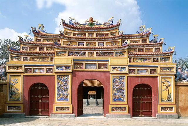 Forbidden Purple City Gate Traditional Architecture The Citadel Imperial Palace Hue Vietnam Purple City Traditional Architecture Architecture