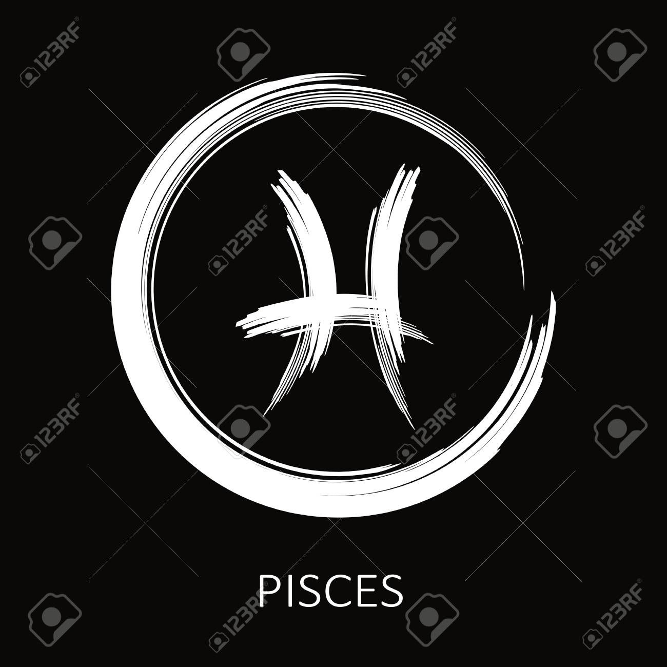 Pisces sign vector Illustration , AFF, sign, Pisces,