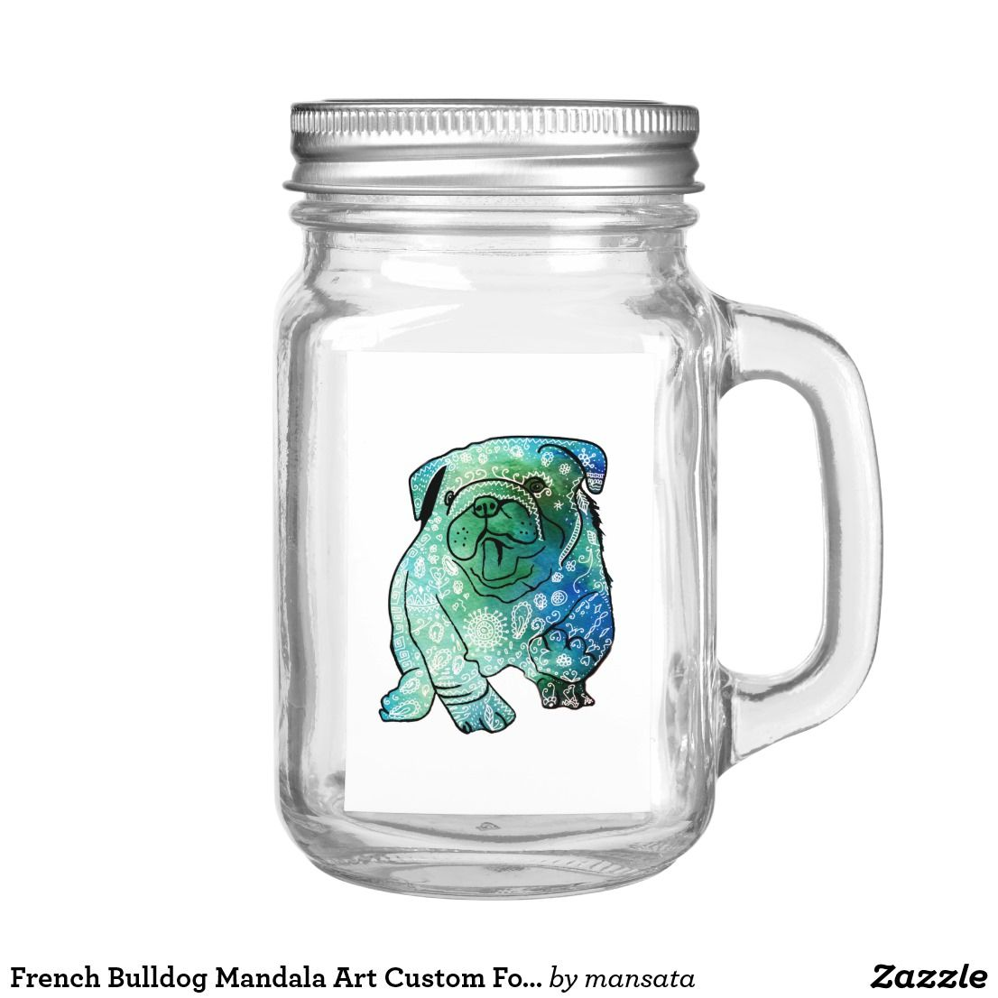 French Bulldog Mandala Art Custom Food Container Food Label