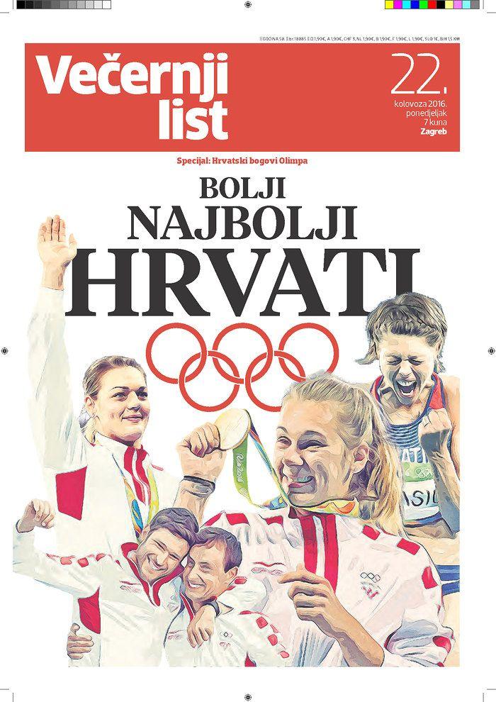 Vecernji List Croatia 8 22 16 Via Newseum Newseum Newspaper Design Editorial Design