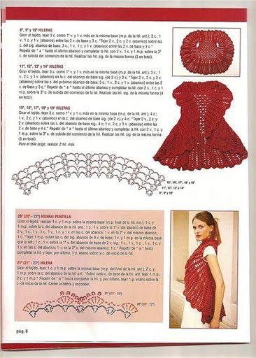 CROCHET CANDY: crochet-bolero rodada