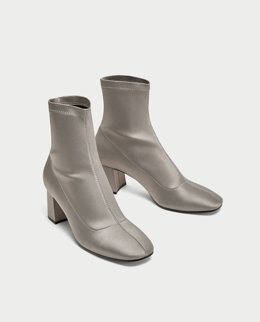 Image 1 of SATIN WITH ANKLE Stiefel WITH SATIN CHUNKY HEEL from Zara   Schuhes c7be89