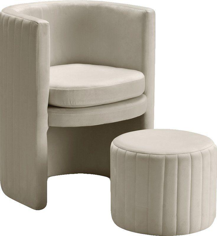Marni Accent Chair 229 Furniture Row: Mercury Row Malek Barrel Chair And Ottoman & Reviews