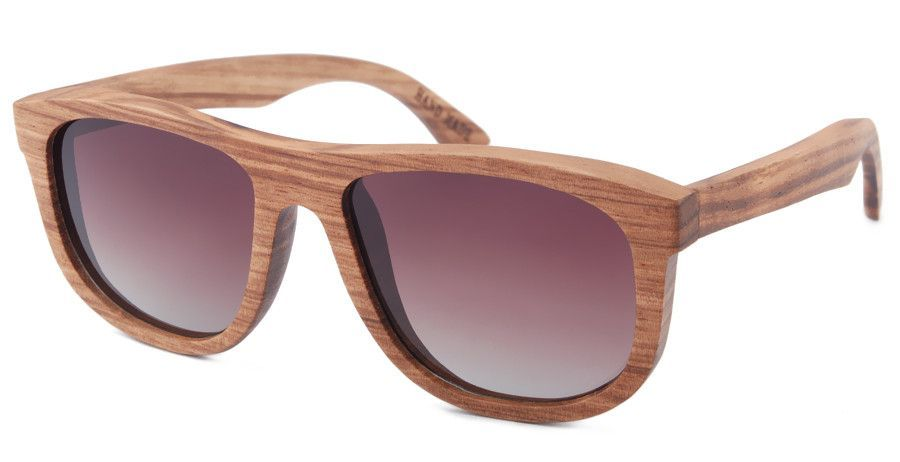 Zebra wood frames with Gradient brown polarized lens