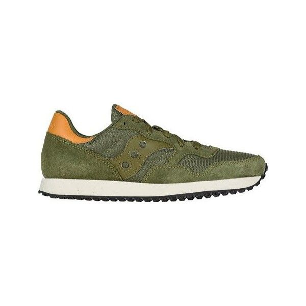Women's Saucony DXN Trainer Original Sneaker - Olive Athletic ($70) ❤ liked  on Polyvore