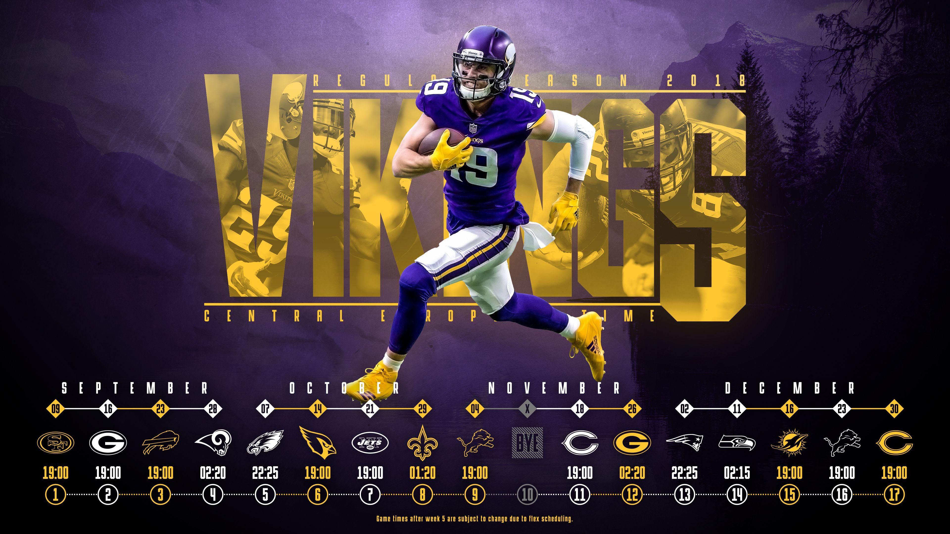 Schedule wallpaper for the Minnesota Vikings Regular