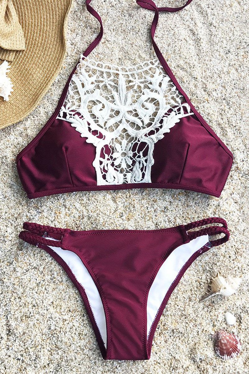 80c102d404ecd Women Push-Up Padded Bra Bandage Bikini Set Swimsuit Triangle Swimwear  Bathing
