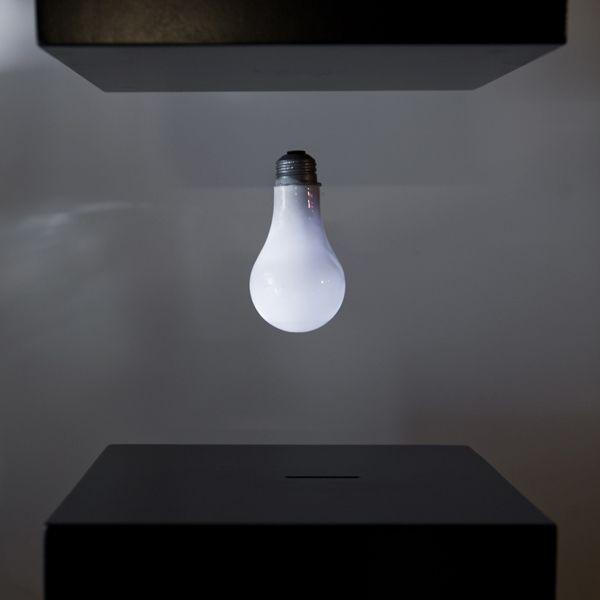 Jeff Lieberman's Levitating Light Bulb  http://www.lightpublic.com/lighting-articles/jeff-liebermans-levitating-light-bulb/