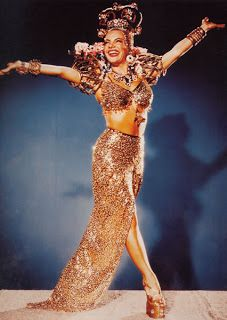 Carmen Miranda 1946 Dollface makeup