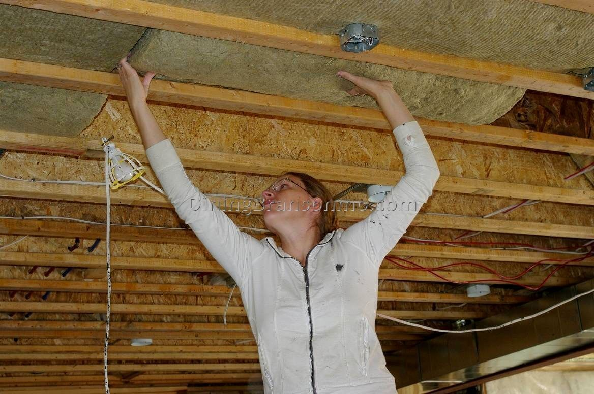 Jazz Up Your Basement Ceiling You Can Do That Basement Insulation Basement Ceiling Insulation Drop Ceiling Basement