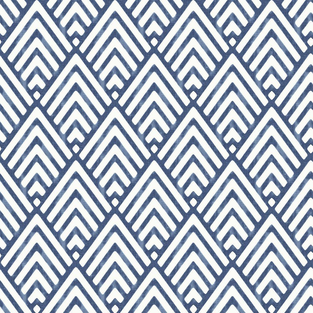 Pin By Annie Dallaire On House In 2020 Geometric Wallpaper Blue Geometric Wallpaper Brewster Wallcovering
