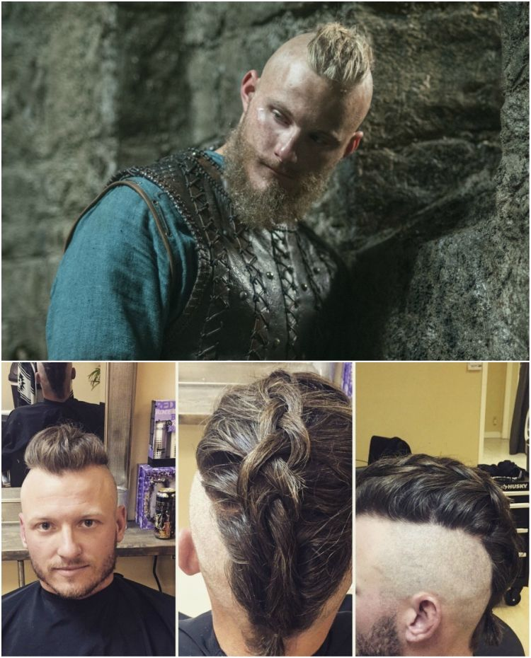 wikinger frisuren mnner knoten flechten bjrn eisenseite frisuren hairstyle hair  vikings