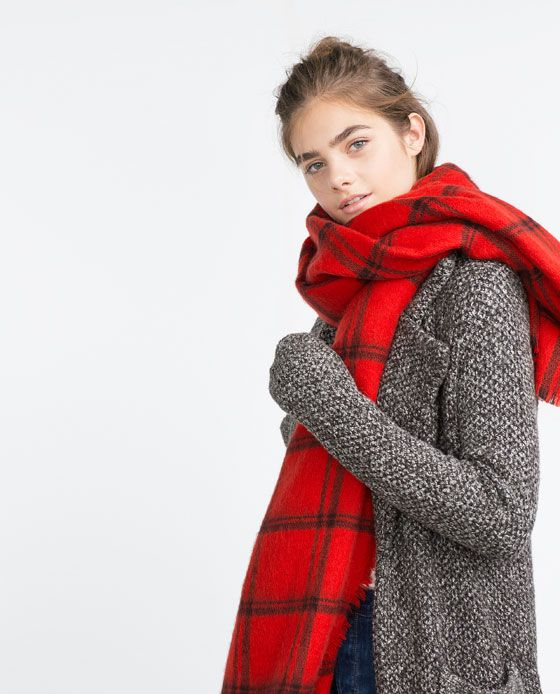 e076ae921 Zara Red plaited scarf. Bought this to contrast my 80% black winter ...