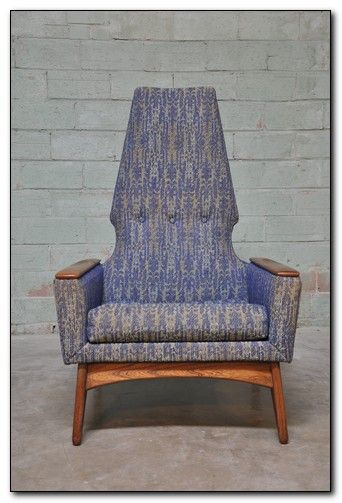 Mcm Chair Style Of Adrian Pearsall With Walnut Base And